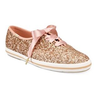 Keds for Kate Spade Glitter Lace Up Sneakers